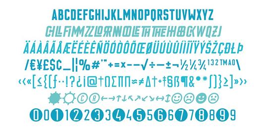 Flounder font
