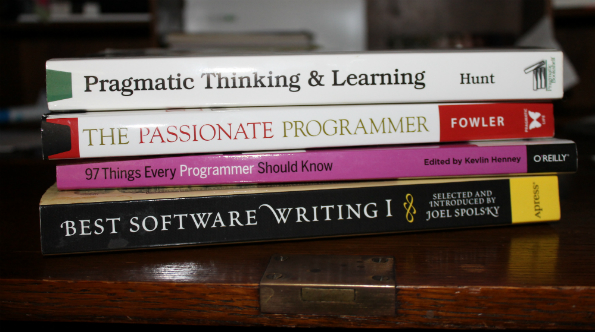 Forests of books have been published on the making of better programmers. The Passionate Programmer and O'Reilly are good starting points