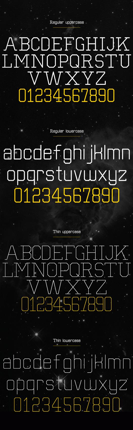 Free font: Separator