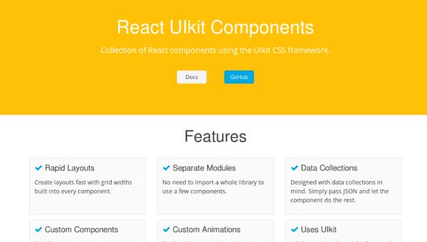 web design tools: React UI components