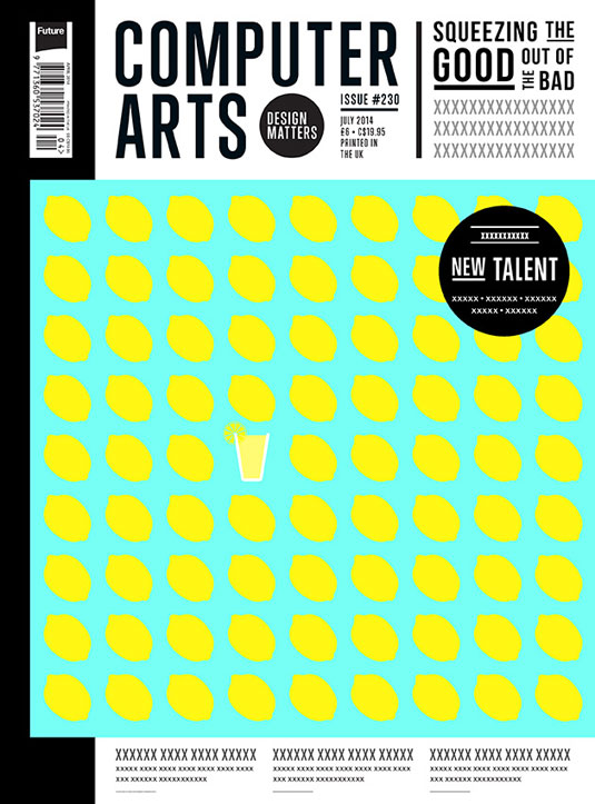 Cover design for CA's New Talent issue by Paddy O'Hara