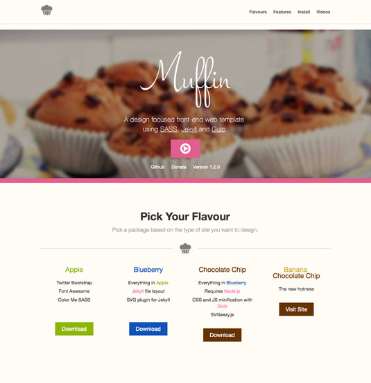 Website templates - Muffin