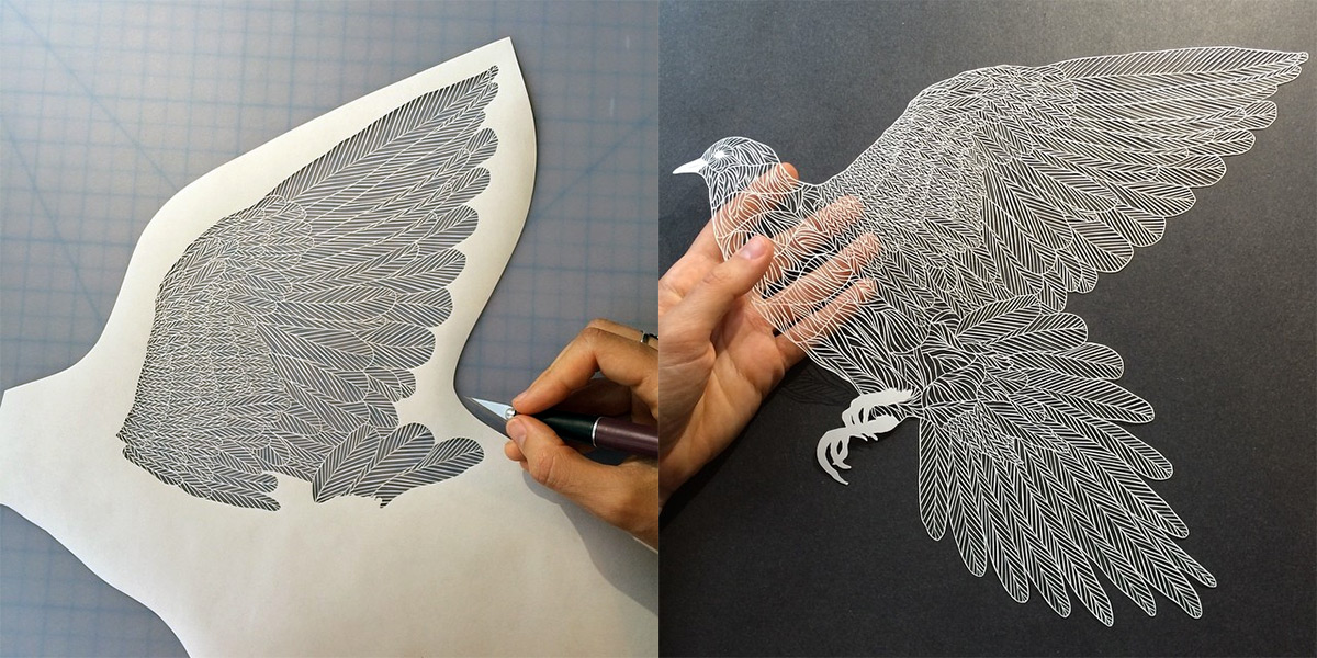 maude white paper art