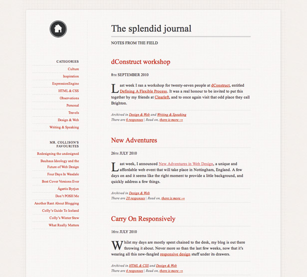 Master web typography: Simon Collison's site