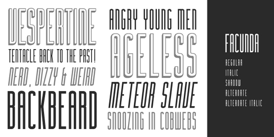 Free fonts: Facunda