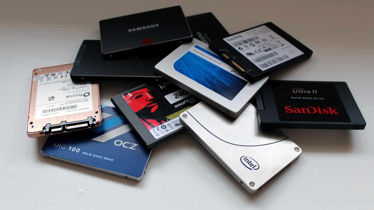 Pile Of SSDs