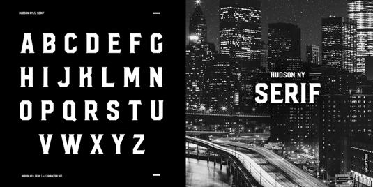 Hudson NY font