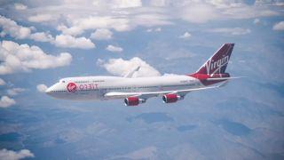 An image of a Virgin Orbit plane