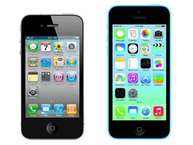Iphone 4 vs 5c comparison