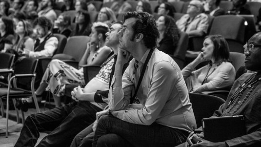 Stefan Sagmeister in the audience for Design Indaba 2014