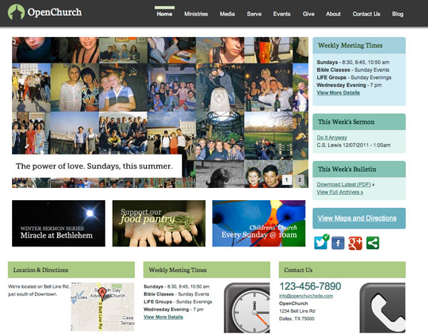 Drupal themes - Church