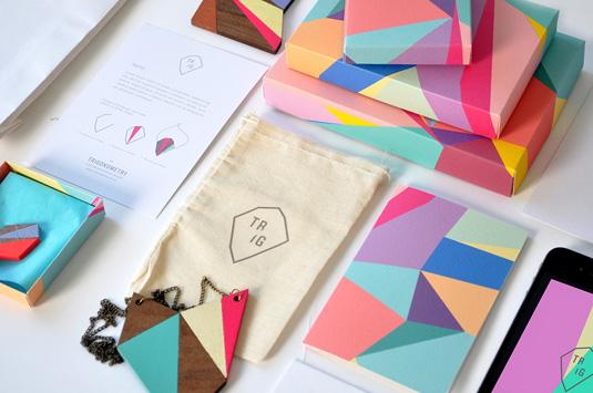 Geometric designs: Olivia King packaging
