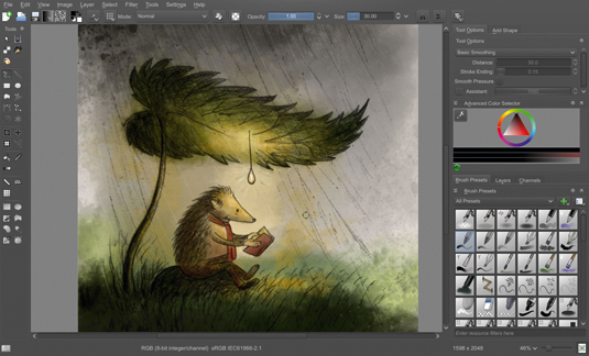 Open-source software Krita finally fullfills is promise