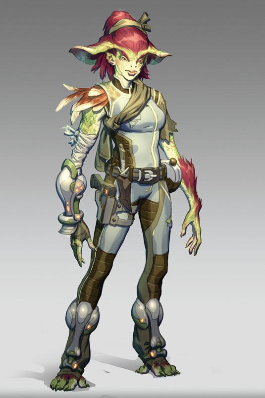 final sci fi alien lady