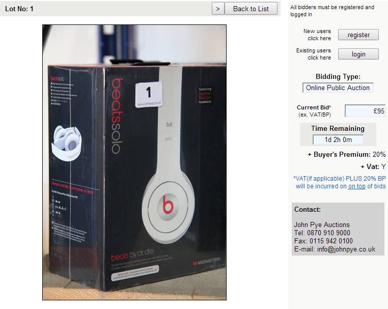 Beats auction