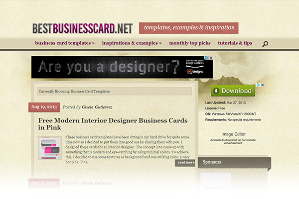 Free print design templates