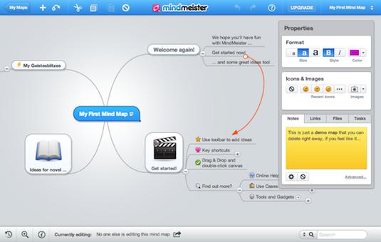 Online collaboration tools: MindMeister