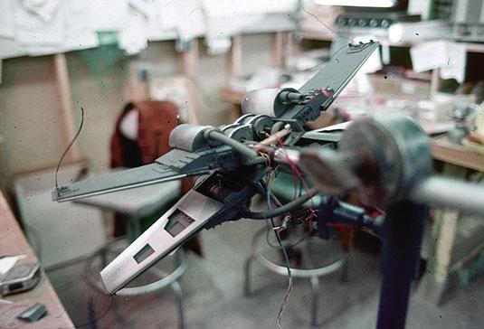 Star Wars model shot