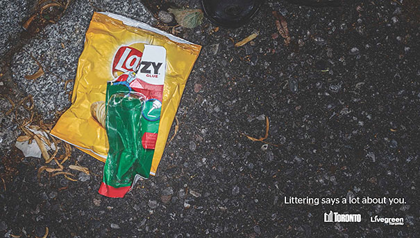 Litter print ad
