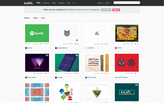 Platforms like Dribbble can help keep you in touch with the design community