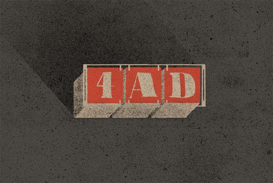 record label logos: 4ad
