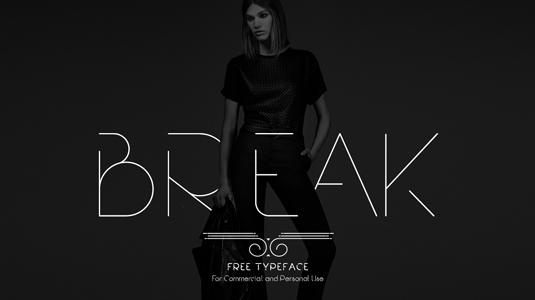 Free font: Break
