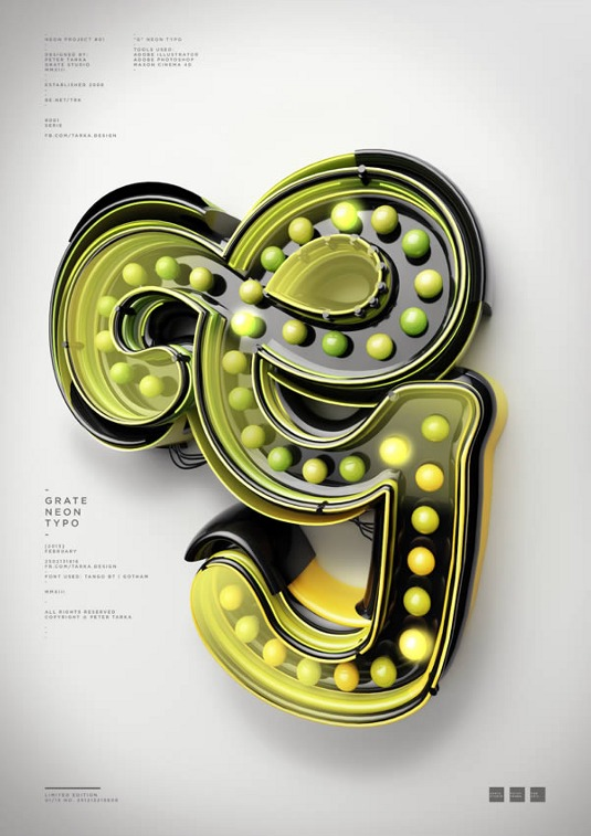 Typography tutorials: 3D vintage lightbulb