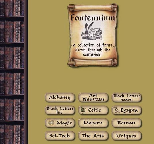 Download fonts: Fontellium