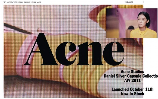 Acne studios website