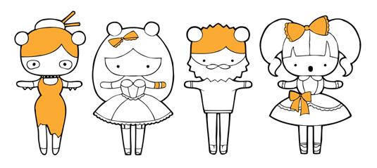 Kawaii design: asymmetry