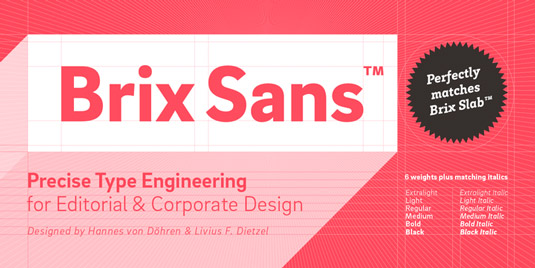 Brix Sans font