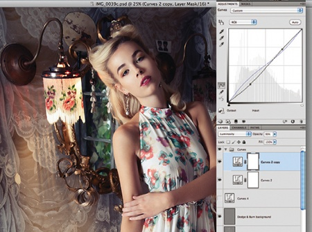 Retouch images with frequency separation: step 10