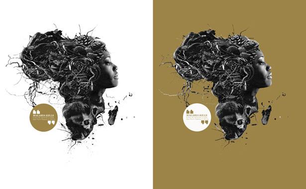 Barton Damer Malaria No More complete artwork