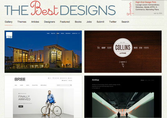Website gallery: The Best Designs