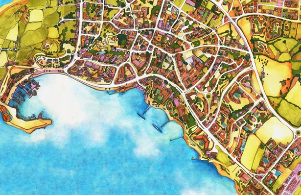 Abigail Daker - Illustrated Map of Paphos District