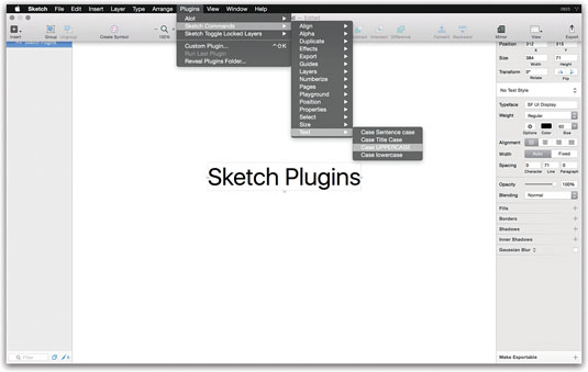 Customise Sketch with plugins
