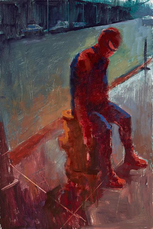 impressionist paintings of superheroes