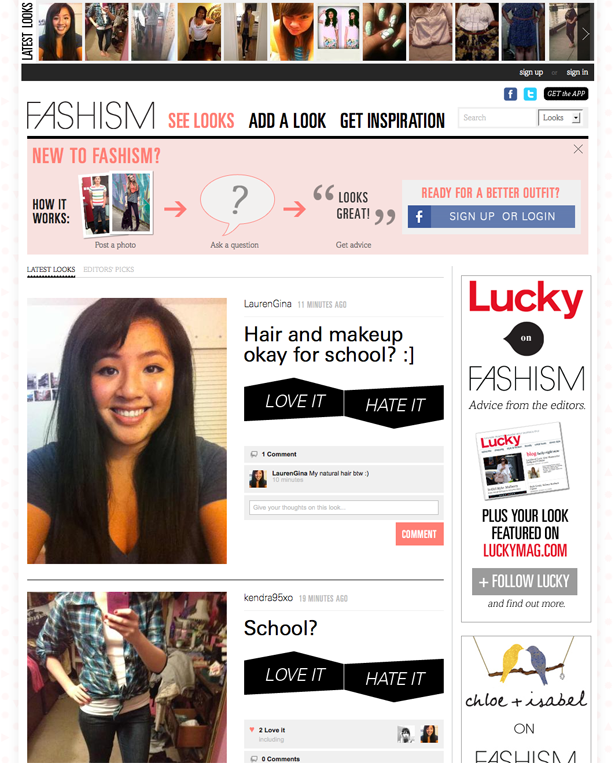 Fashism taps into real-time feedback from the community on looks posted by its members. Geo-location capabilities offered via Foursquare's open API also allow users to broadcast their fashion finds and fitting room tries through the mobile app, thus extending a department store's ecommerce reach. Bringing together virtual and real world shoppers represents the next frontier of social commerce. Stores should look to develop loyalty and ambassador programs to reward their most engaged customers