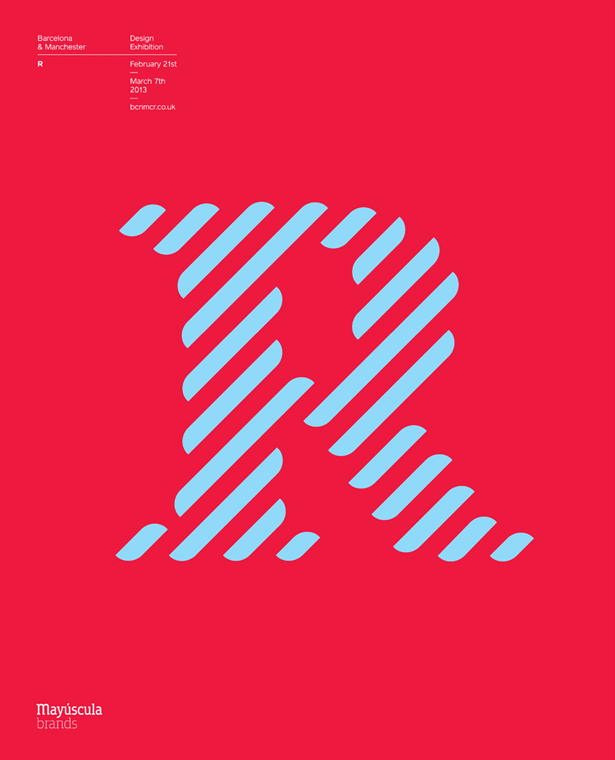 Mayuscula Brands' design for the letter 'R'