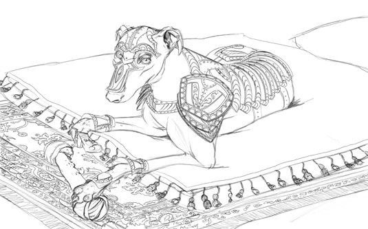 dog armour step 1