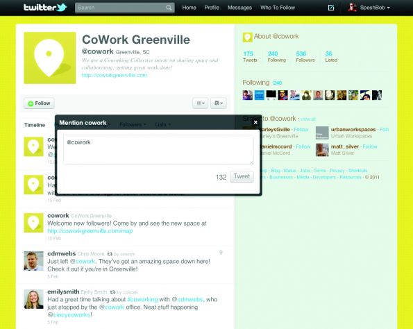 Twitter overlay example