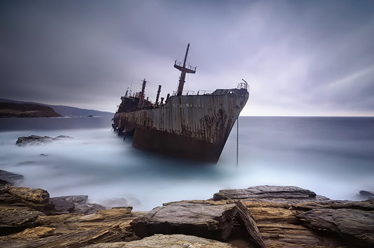 Mary Kay captures the abandoned ship Semiramis