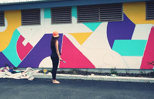 Becca Allen wall mural