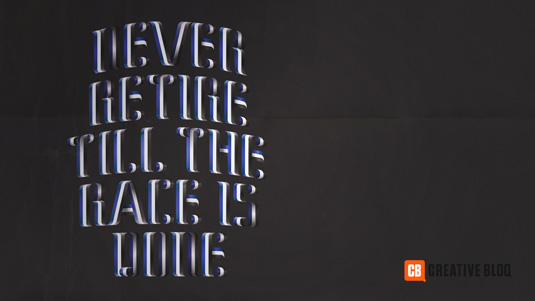Typography wallpapers: Never retire till the race is won