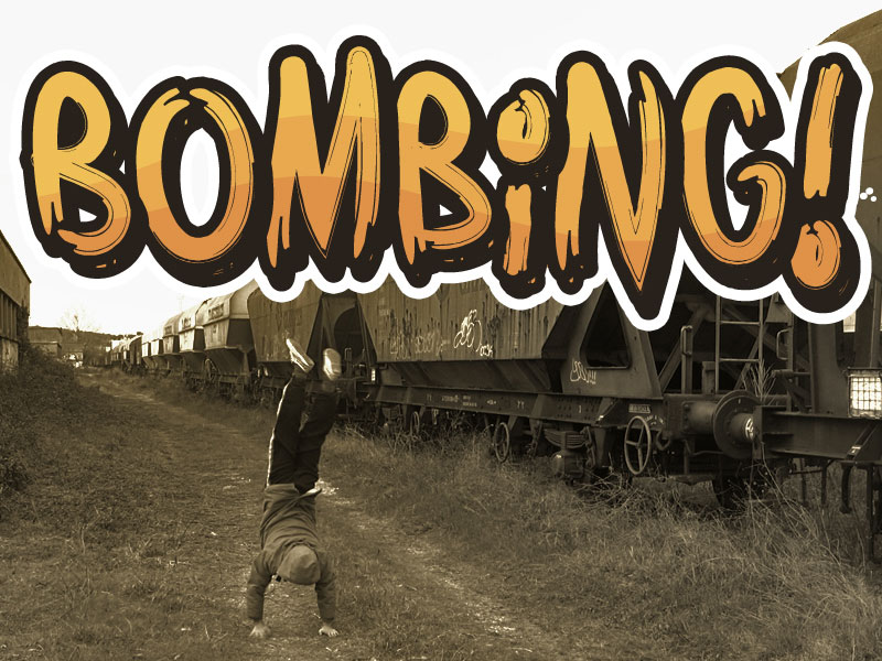 Free graffiti font: Bombing