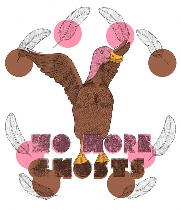 Kathryn Corlett - Pin Headed Duck T-shirt design