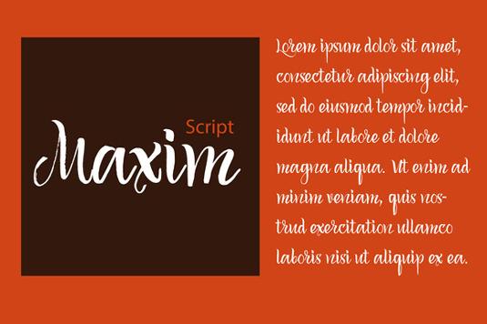 Free font: Maxim Script