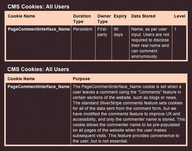Clear choices: be upfront about the Cookies you use and why o(n my personal site: http://sandiwassmer.co.uk/other-pages/terms-and-conditions/#terms)
