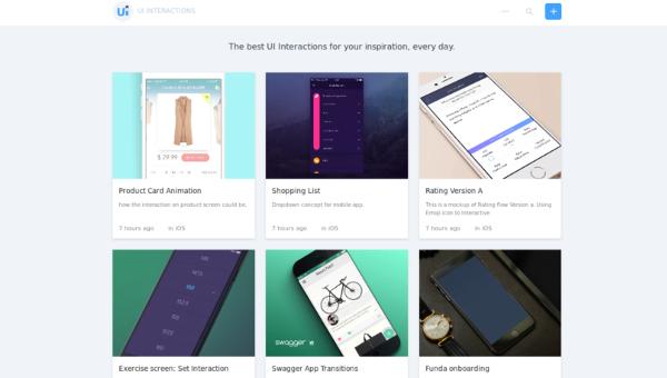 web design tools: UI interactions