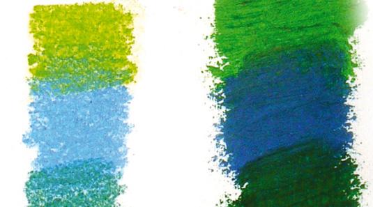 Pastel art: pastel pencils and oil pastels